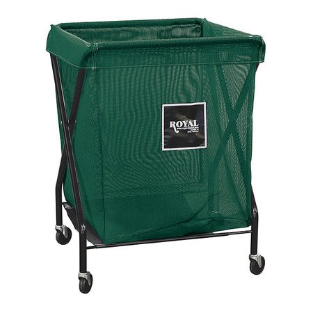 ROYAL BASKET TRUCK G08-EEX-XMA-3ONN X-Frame Cart,8 Bu,Green Mesh