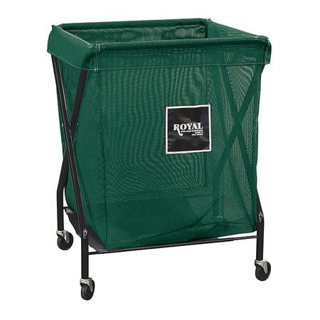 X-Frame Cart,8 Bu,Green Mesh ROYAL BASKET TRUCK G08-EEX-XMA-3ONN