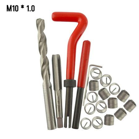 20Pcs Metric Thread Repair Insert Kit M5 M6 M8 M10 M12 M14 Helicoil Car Pro Coil Tool M10 * 1.0