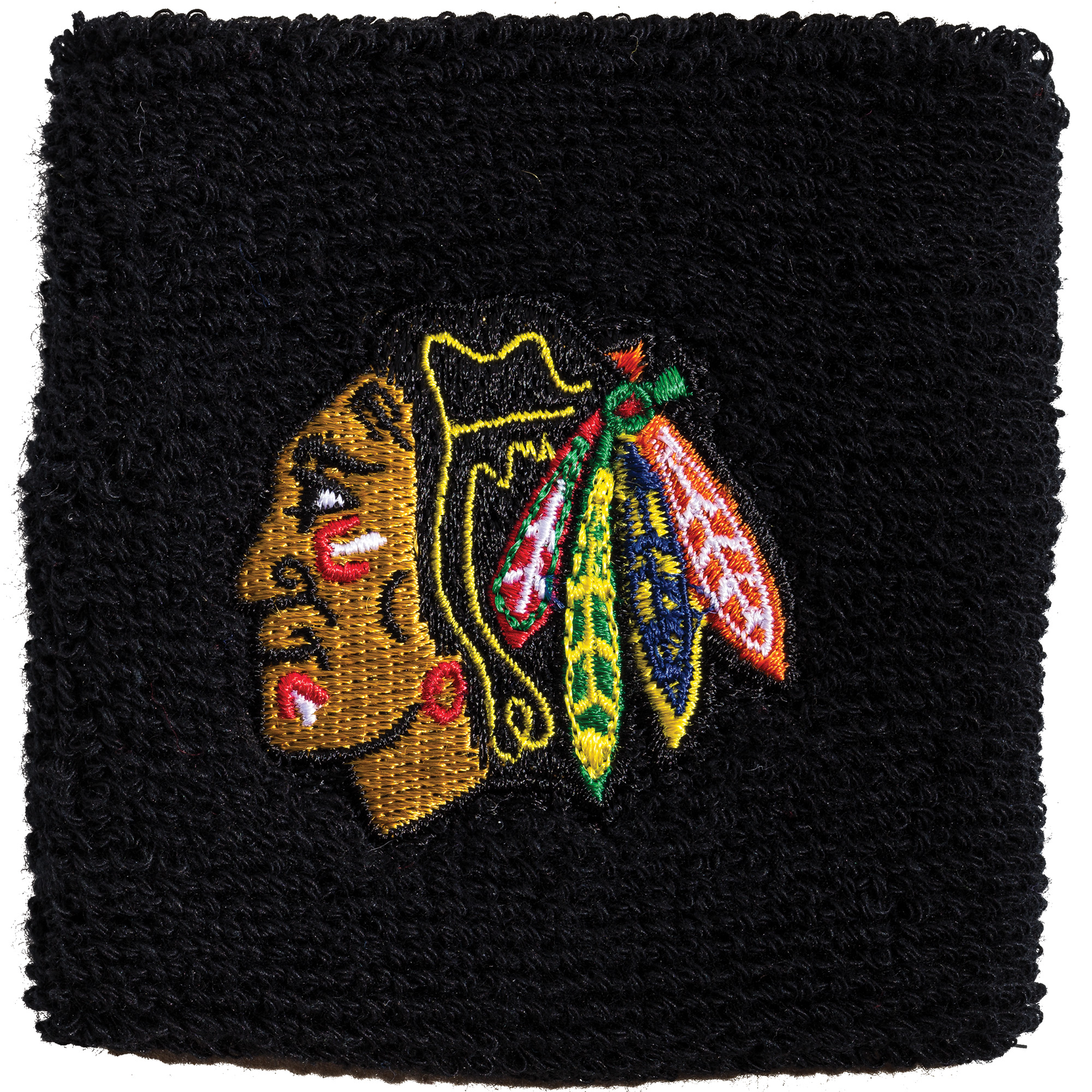 """Franklin Sports NHL Chicago Blackhawks 2.5"""" Embroidered Wristbands"""