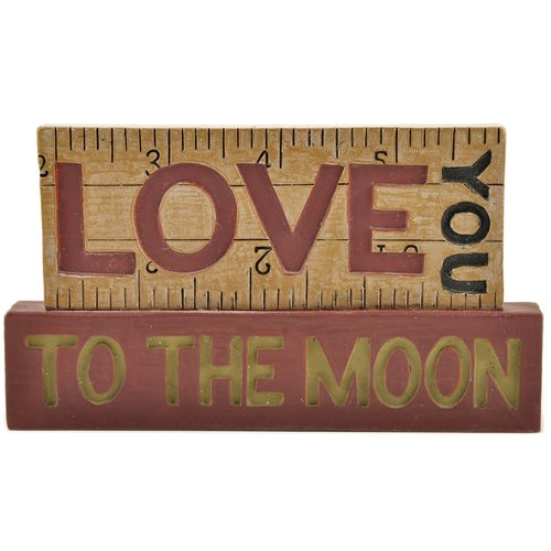 Blossom Bucket Love You To The Moon Stacked Letter Block