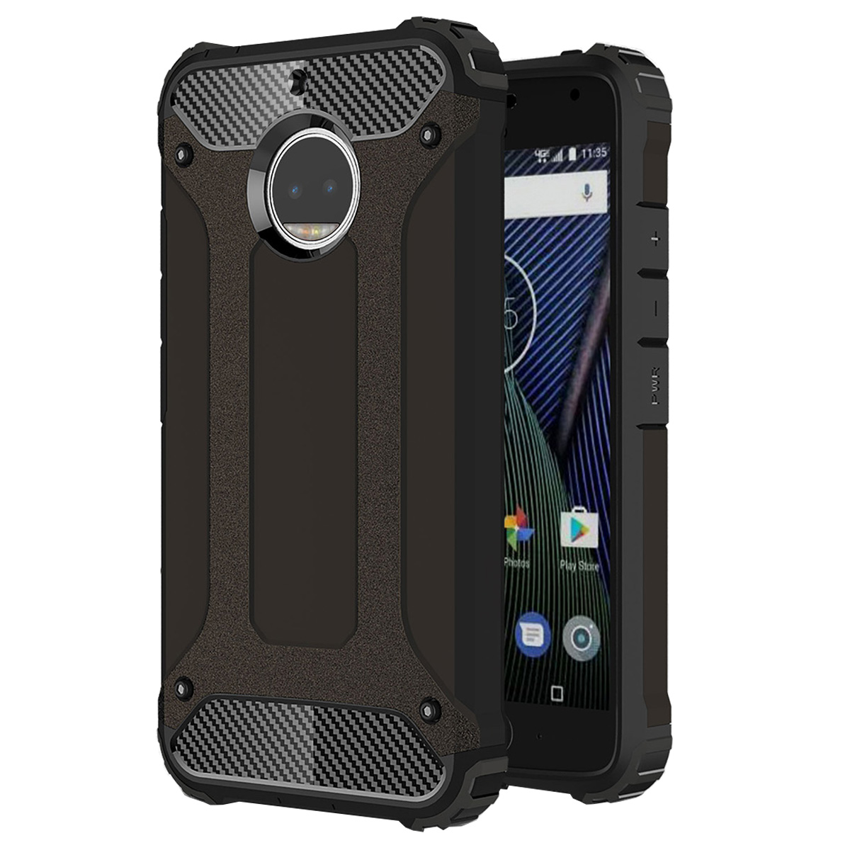 online retailer 66d9e a2f0e Moto G5s Case, Mooncase Hybrid Armor Case Dual Layer [Shock Absorbing] Soft  Silicone & Hard Plastic [Full Body] Protective Shell Cover for Motorola ...