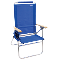 RIO Beach Hi-Boy Tall Back Beach Chair - Blue