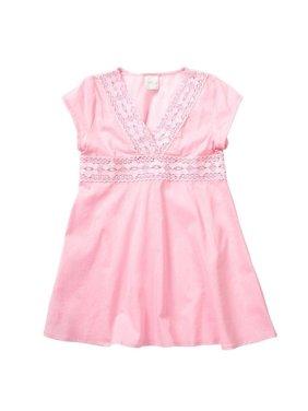 Azul Girls Pink V-Shape Neckline Cap Sleeve Tunic Cover Up