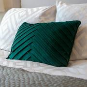 Thro 20x14 James Pleated Velvet Pillow