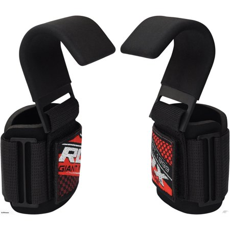 RDX Pro Gym Weight Lifting Hook With Wrist Strap Support
