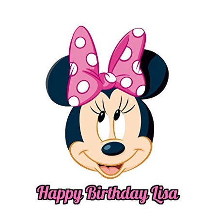Minnie Mouse Face Edible Frosting  Image Cake Topper - 8