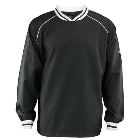 Adidas Men's Pullover Microfiber Hot Jacket, Black (Adidas Chelsea Jacket)