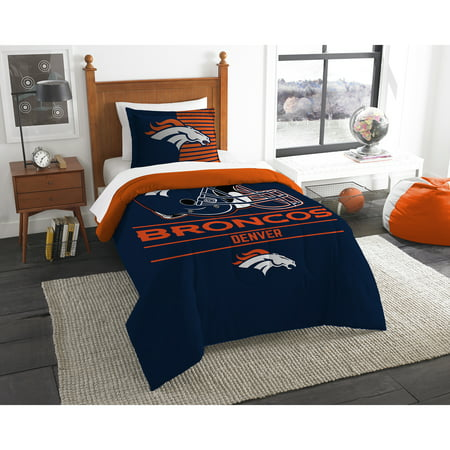 Denver Broncos The Northwest Company NFL Draft Twin Comforter Set - No Size - Broncos Birthday