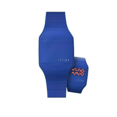 Fusion Comfort Silicon Watch With Tech Time  Lights Up At The Touch Of A Botton