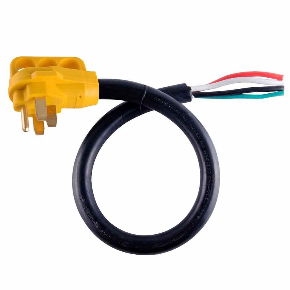 Superior Electric Rva1529 25 Ft 50 Amp 6 3 8 1 Gauge Nema 14 50p Rv Cord W 6 Loose End Plug Handle Walmart Com Walmart Com