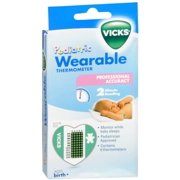 Vicks Wearable Thermometers V935 6 Each (Pack of 4)