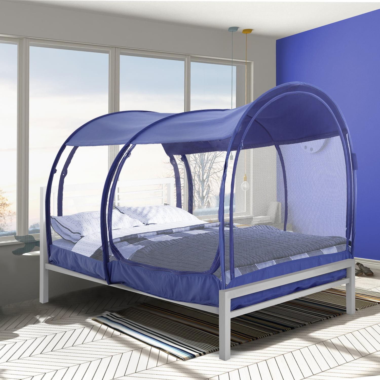 Alvantor Bed Tent Pop Up Mosquito Net Twin Navy Walmart Com Walmart Com