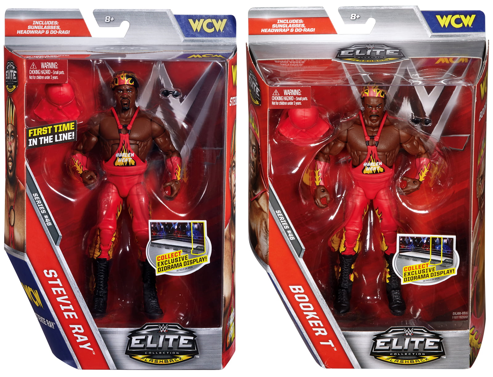 Package Deal Harlem Heat (Booker T & Stevie Ray) WWE Elite 46 WWE Toy Wrestling Action... by