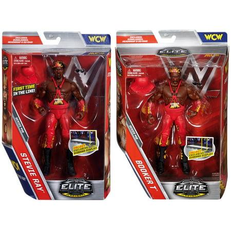 Package Deal - Harlem Heat (Booker T & Stevie Ray) - WWE Elite 46 WWE Toy Wrestling Action Figures Modern Elite Tv