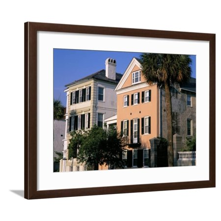 Early 19th Century Town Houses, Historic Centre, Charleston, South Carolina, USA Framed Print Wall Art By Duncan Maxwell - Compton Town Center