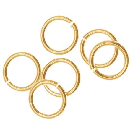 14K Gold Filled Open Jump Rings 6mm 20 Gauge (10)