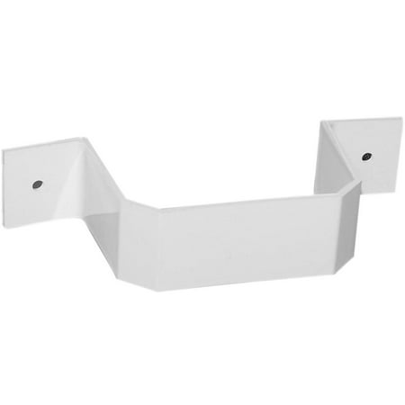 DOWNSPOUT BRACKET 3X4 IN WHITE, Duraspout by Genova Products