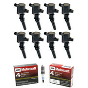 Set of 8 Ignition Coils & Motorcraft Spark Plugs SP479 Compatible with 1998-2003 Ford F-150 5.4L V8 Replacement for FD503 DG508 SP479