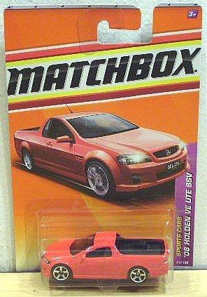 Matchbox 2011 Sports Cars 2 of 100 '08 Holden VE UTE SSV (Red) by Mattel