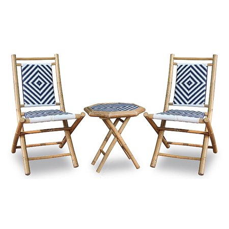 Heather Ann Creations Isla Collection Hana Series 3 Piece Outdoor Patio Conversation Set ()