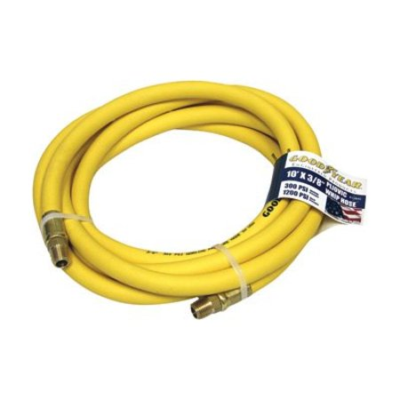Goodyear Rubber Air Hose - 3/8in. x 10ft., 300 PSI, Model# (Goodyear Hydraulic Hose)