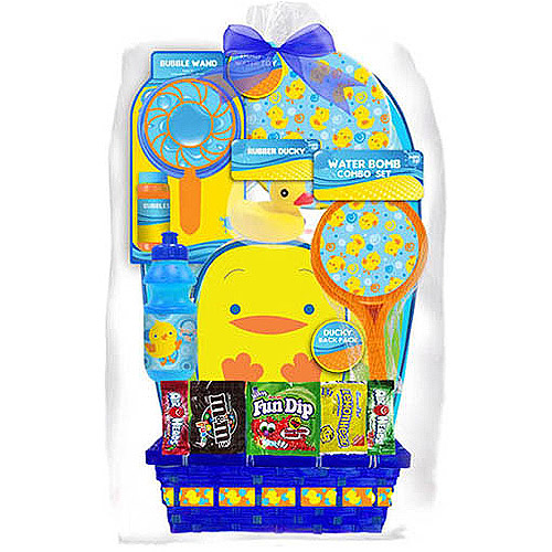 Ducky Themed Easter Basket, 8 pc