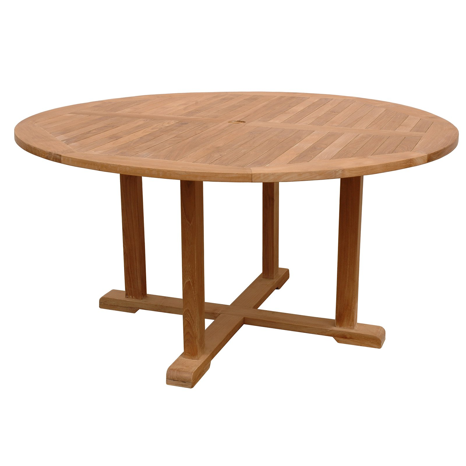 Anderson Teak Tosca Round Outdoor Dining Table by Anderson Teak
