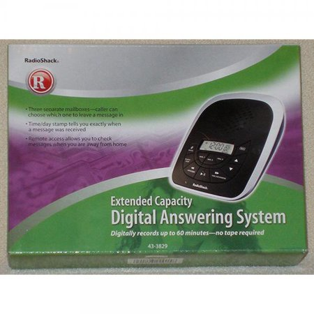 Radioshack Extended Capacity Digital Answering System 43 3829
