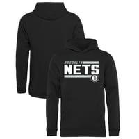 24f6208c55b Product Image Brooklyn Nets Fanatics Branded Youth Onside Stripe Pullover  Hoodie - Black