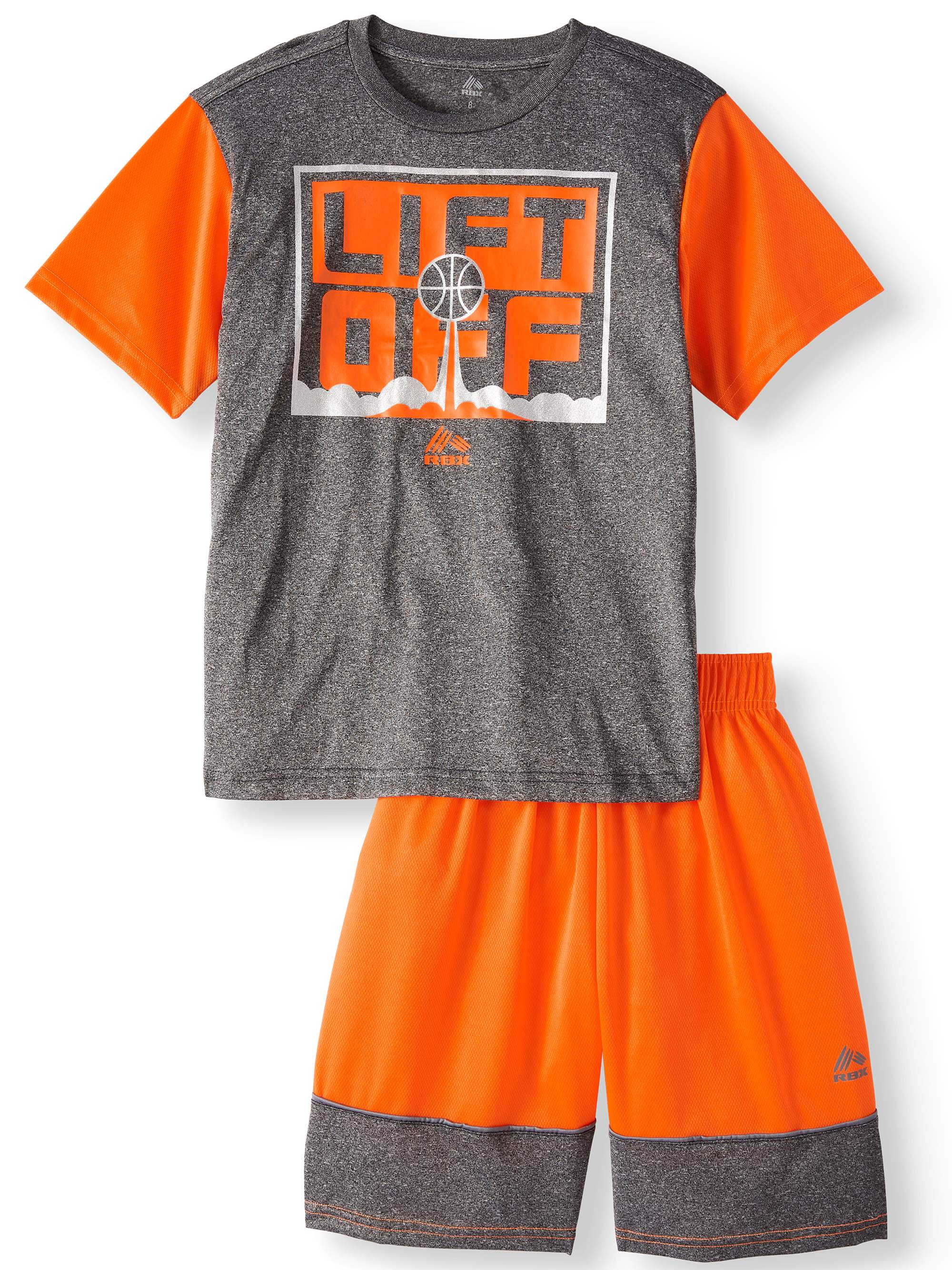 Graphic Tee and Mesh Shorts, 2-Piece Outfit Set (Big Boys)