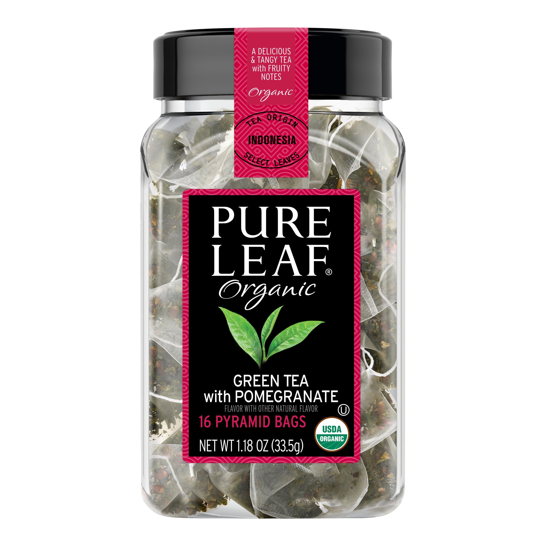 Pure Leaf Hot Tea Bags Organic Green Tea with Pomegranate 16 ct