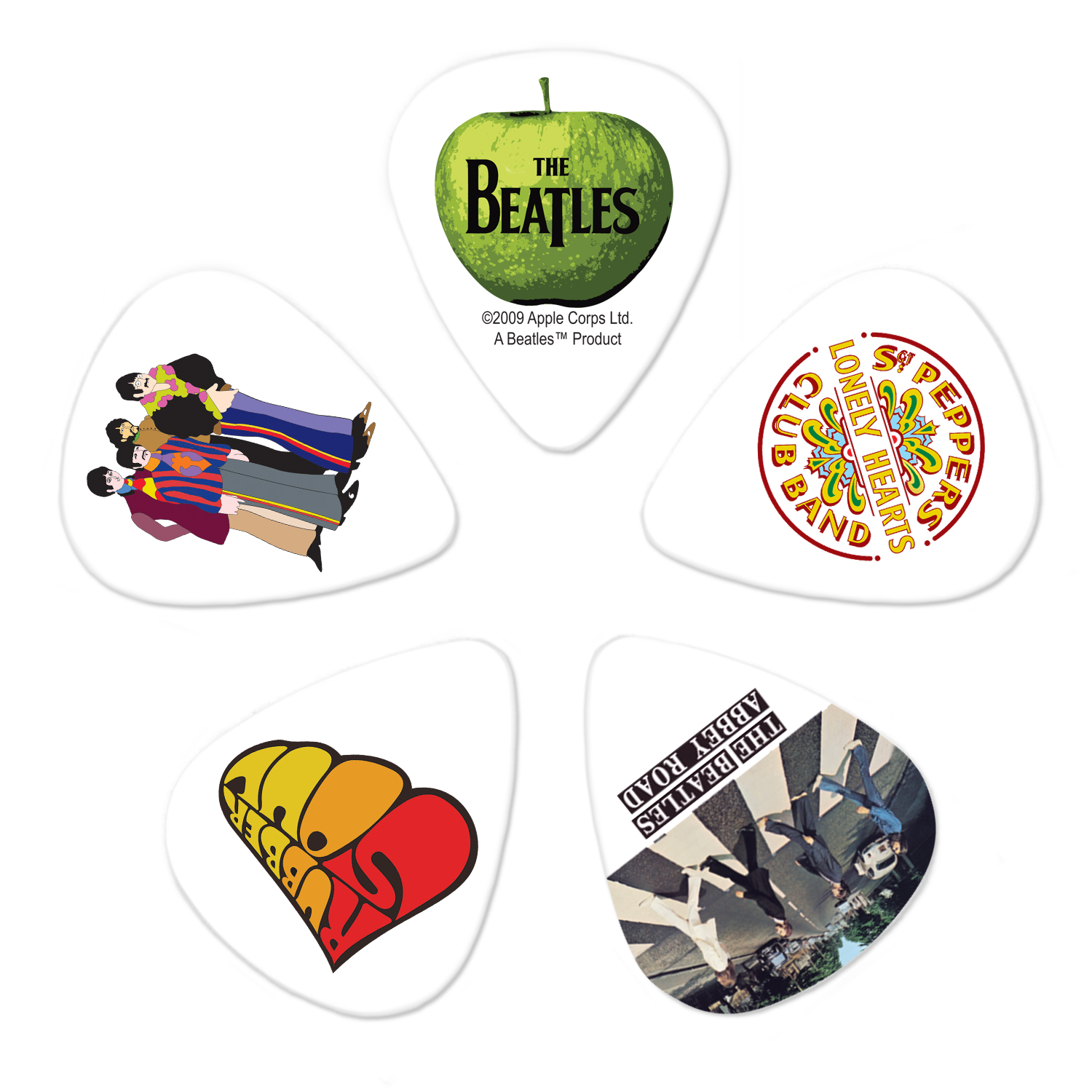 Planet Waves Beatles Guitar Picks, Albums, 10 pack, Heavy by D'Addario & Company, Inc