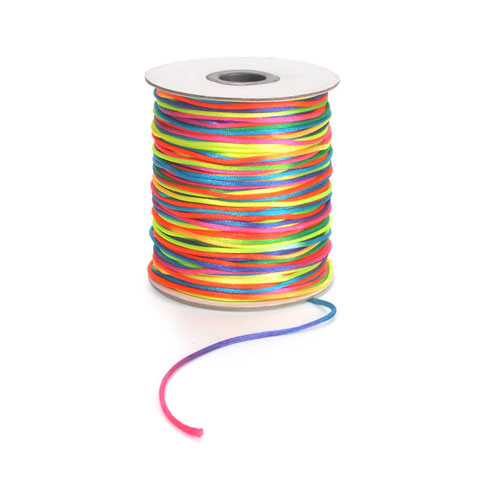 Rattail Satin Cord Rainbow 2Mm 144Yd