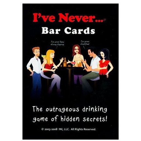 I've Never Bar Cards, The Outrageous Drinking Game of Hidden Secrets, This Game will Shock You, Surprise You, and Make You Laugh Out Loud, Includes 104 Questions and 10.., By INI