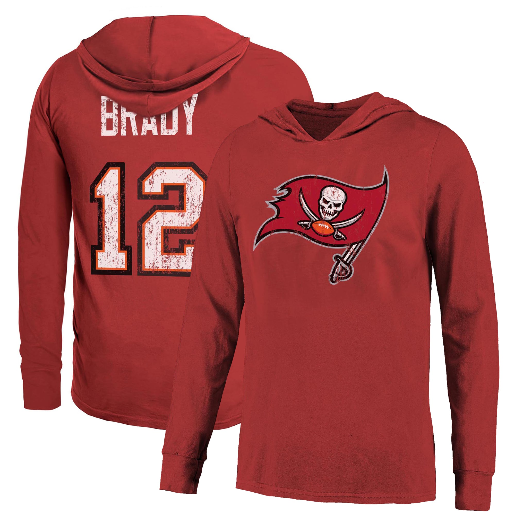 Tom Brady Tampa Bay Buccaneers Majestic Threads Name Number Pullover Hoodie Red Walmart Com Walmart Com [ 2000 x 2000 Pixel ]