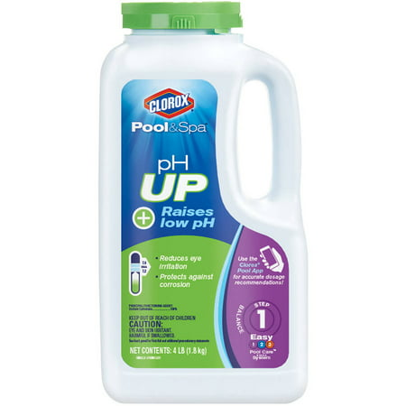 Winter Pool Chemical - Clorox Pool&Spa pH Up Pool pH Increaser, 4 lbs