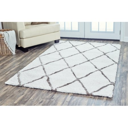 Rizzy Home DC9440 Light Gray 8' x 10' Hand-Tufted Area Rug ()