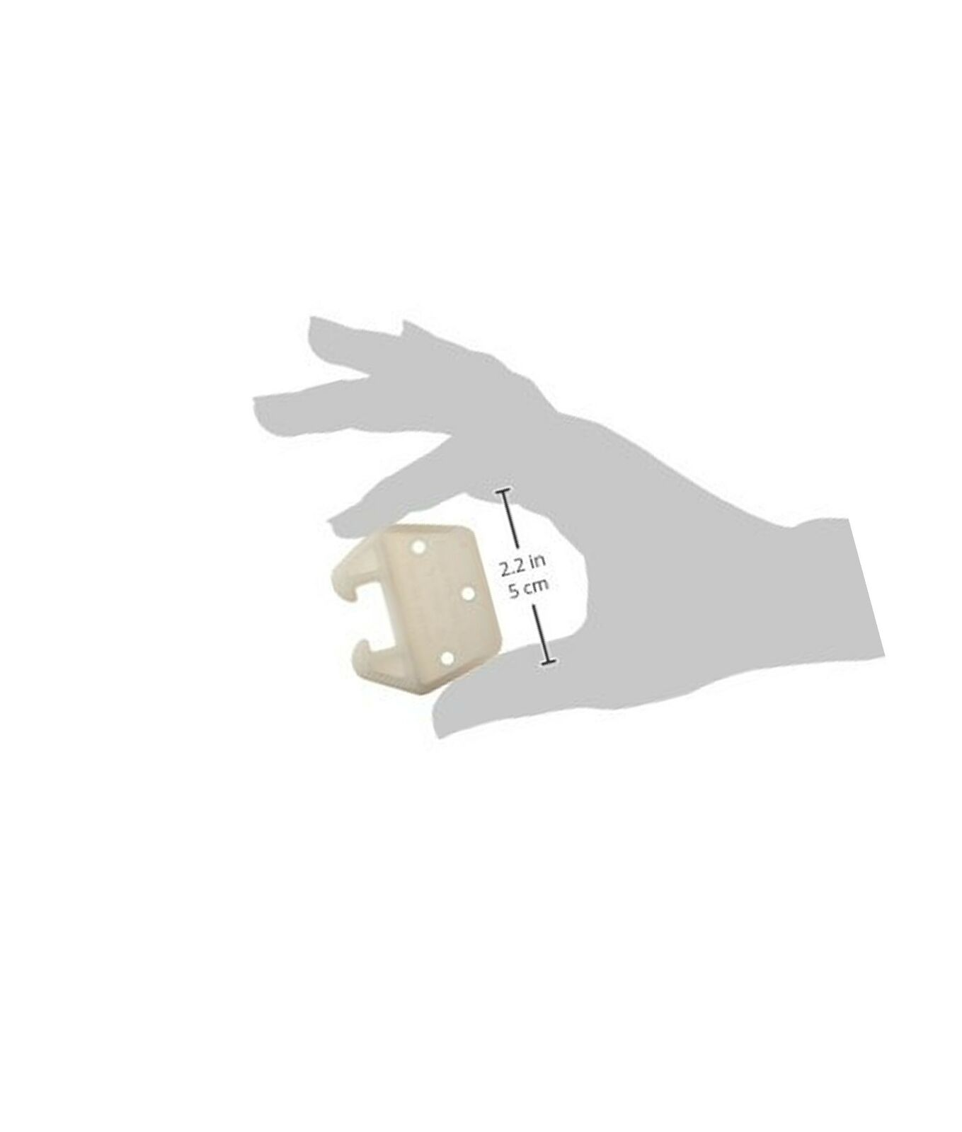 6-Piece 3//4-Inch Hard-to-Find Fastener 014973153472 Track Drawer Guides
