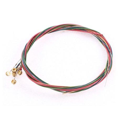 6Pcs Assorted Color Strings Set for Acoustic Folk