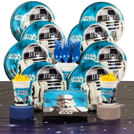 Star Wars Birthday Party Deluxe Tableware Kit Serves 8 - Party Supplies
