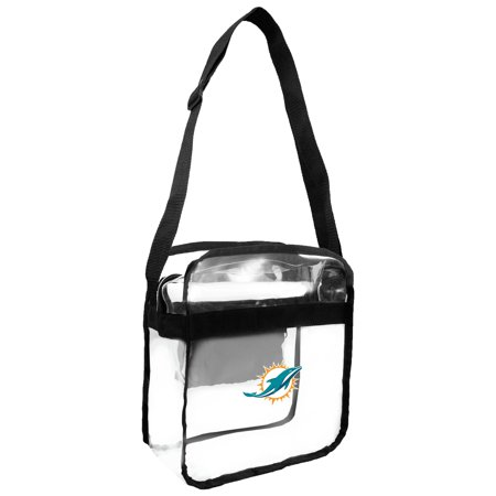 - Little Earth - NFL Clear Carryall Cross Body Bag, Miami Dolphins