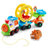 Go! Go! Smart Animals Roll & Spin Pet Train, Watch the hamster wheel spin and the crocodile teeter totter move like magic as your little one.., By VTech