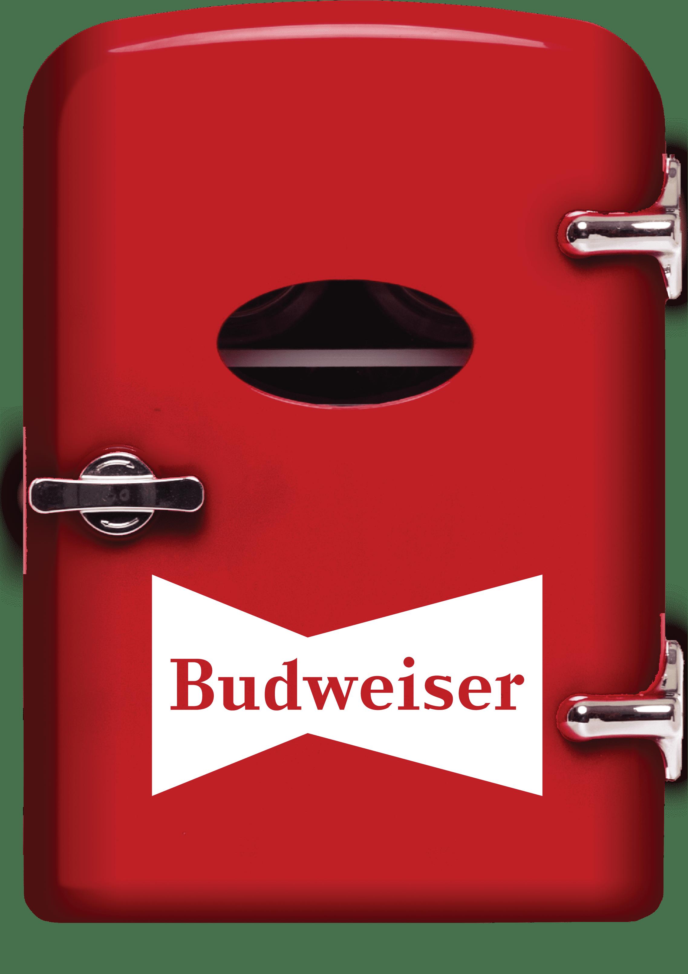 Budweiser Portable 6-can Mini Fridge, MIS135BUD, Red
