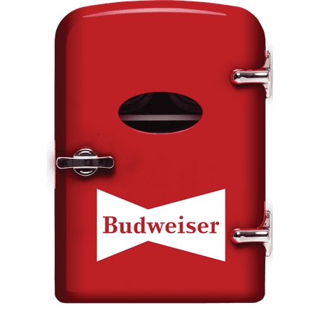 Budweiser Portable 6-can Mini Fridge, MIS135BUD, Red