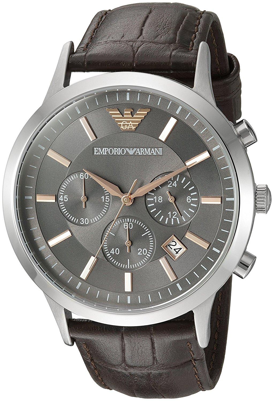 Emporio Armani Leather Chronograph Mens Watch AR2513