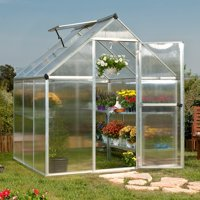 Palram Mythos - Multiple Sizes - Silver - Walk-In Greenhouse