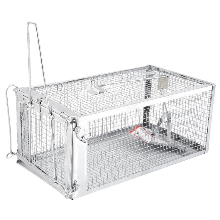 Humane Animal Trap Steel Cage for Small Live Rodent Control Rat Squirrel