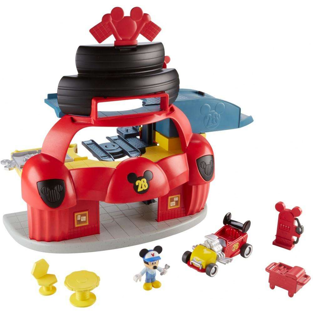 Disney Mickey Mouse Roadster Racers Garage by Mattel