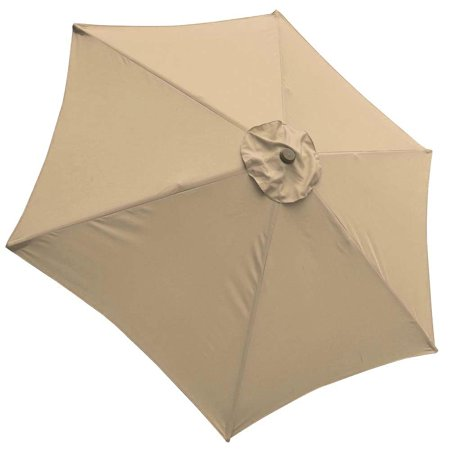 9' Patio Umbrella Replacement Canopy 6 Ribs Cover Top Outdoor Yard